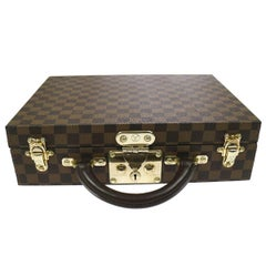 Louis Vuitton Rare Monogram Top Handle Briefcase Vanity Jewelry Storage Case