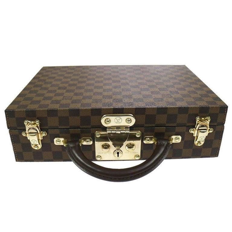 Louis Vuitton Rare Monogram Top Handle Briefcase Vanity Jewelry Storage Case