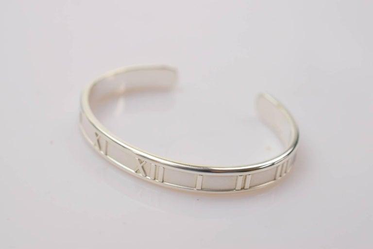 c398f5c7b Tiffany & Co. Sterling Silver Roman Numerals Atlas Cuff Bangle Bracelet in  Box Sterling silver