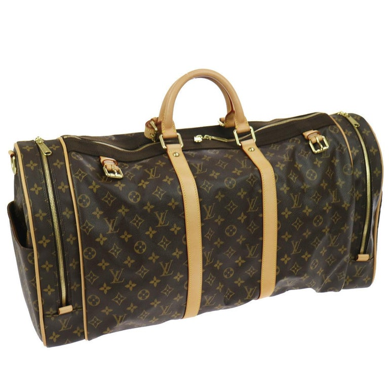 Louis Vuitton Monogram Large Men's Women's Travel Carryall Duffle Top Handle Bag