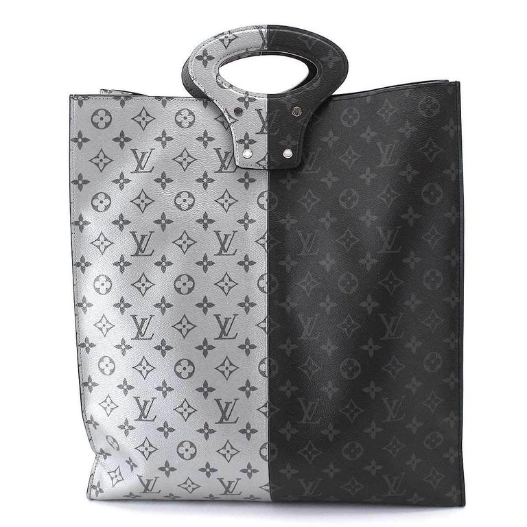 d4cf41172458 Louis Vuitton Leather Two Tone Monogram Men s Women Top Handle Carryall  Tote Bag In Excellent Condition