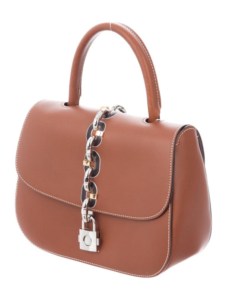 133f3fd7718d Pink Louis Vuitton New Cognac Leather Kelly Style Top Handle Satchel  Evening Flap Bag For Sale