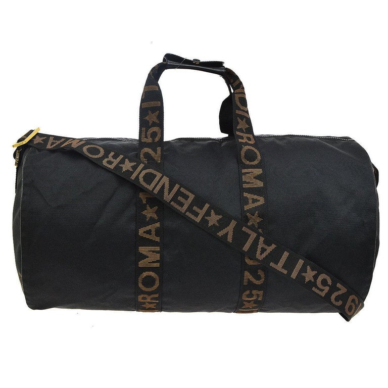 3d60660d954a Fendi Roma Black Travel Gym Men s Women Carryall All Top Handle Tote Travel  Bag For Sale at 1stdibs