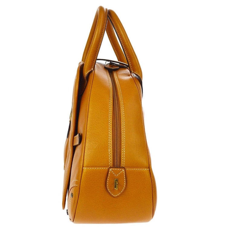 Christian Dior Cognac Leather Gold
