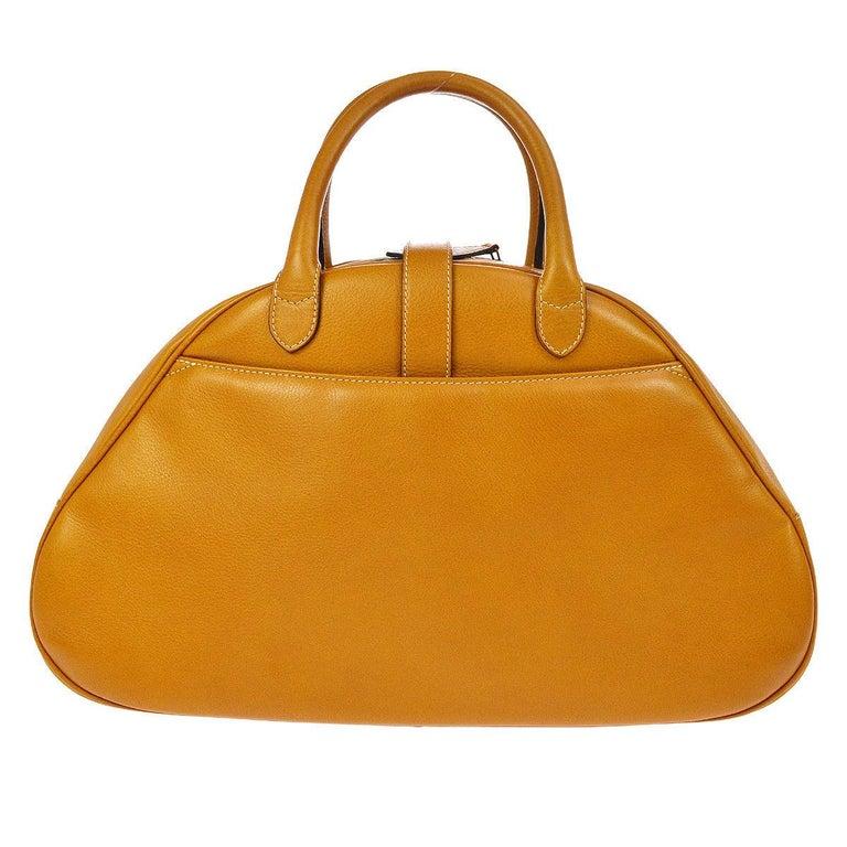 Women's or Men's Christian Dior Cognac Leather Gold