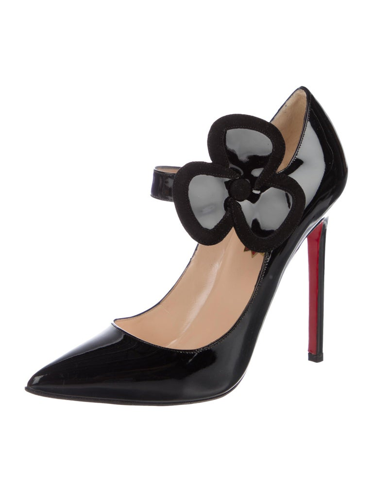 official photos 17ac0 59fe0 Christian Louboutin Black Patent Mary Jane Evening Pumps Heels