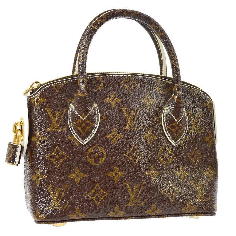 Louis Vuitton Monogram Canvas Evening Small Top Handle Satchel Bag Leather Gold Tone Hardware