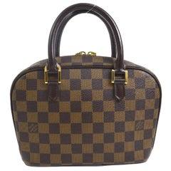 Louis Vuitton Brown Damier Monogram Small Evening Top Handle Satchel Bag