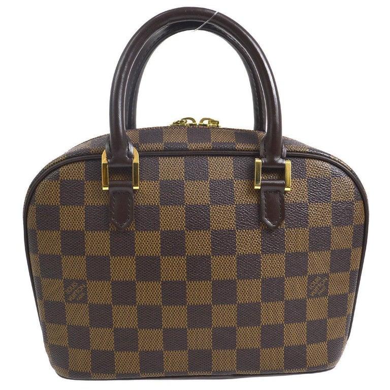 8e5b4c0599d95 Louis Vuitton braune Damier Monogramm klein Abend Henkeltasche Satchel Bag 1