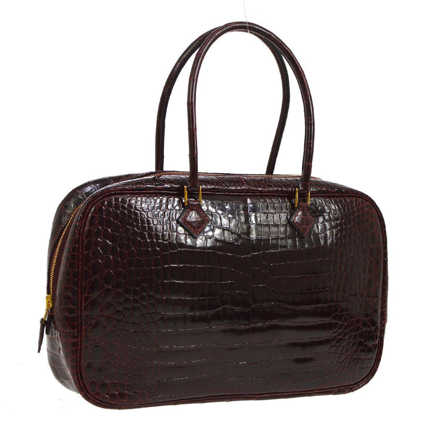 Hermes Rare Crocodile Leather Evening Small Tote Top Handle Satchel Bag For  Sale at 1stdibs 86d3df14582c4