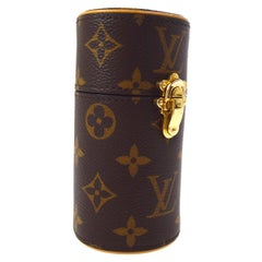 LOUIS VUITTON Monogram Gold Mini Small Men's Women's Travel Storage Case in Box