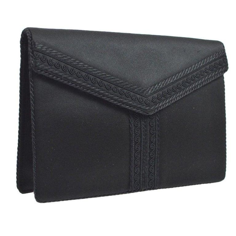 Yves Saint Laurent YSL Satin Braided  Y  Envelope Evening Flap Clutch Bag  For Sale 16174d278a
