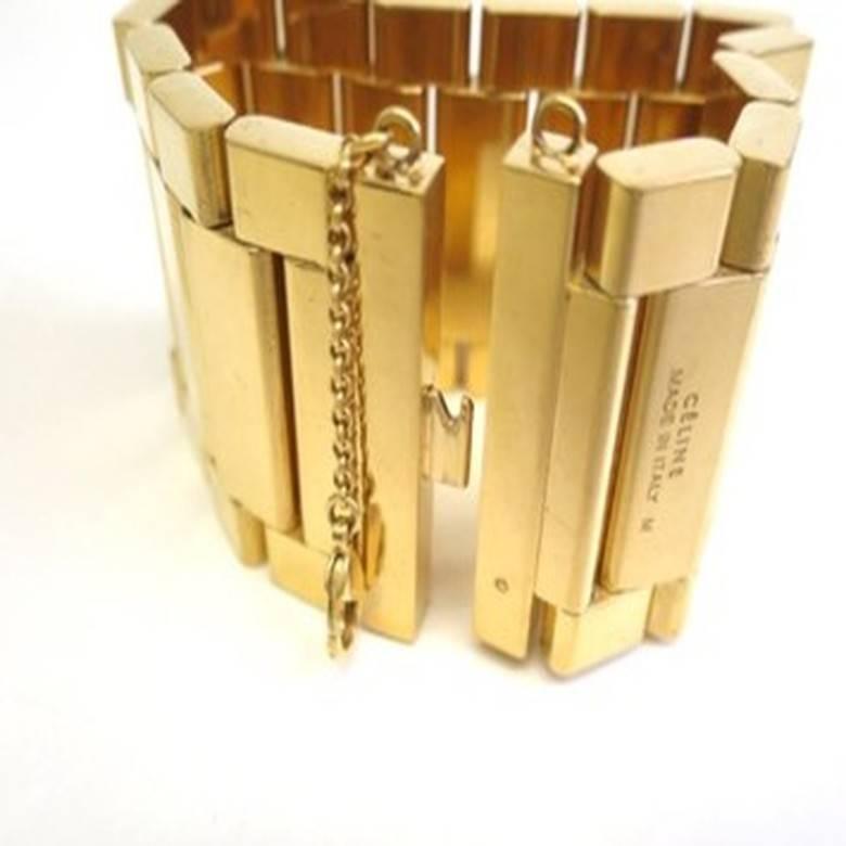 e3d8b648df3 Celine Leather Cuff Bracelet