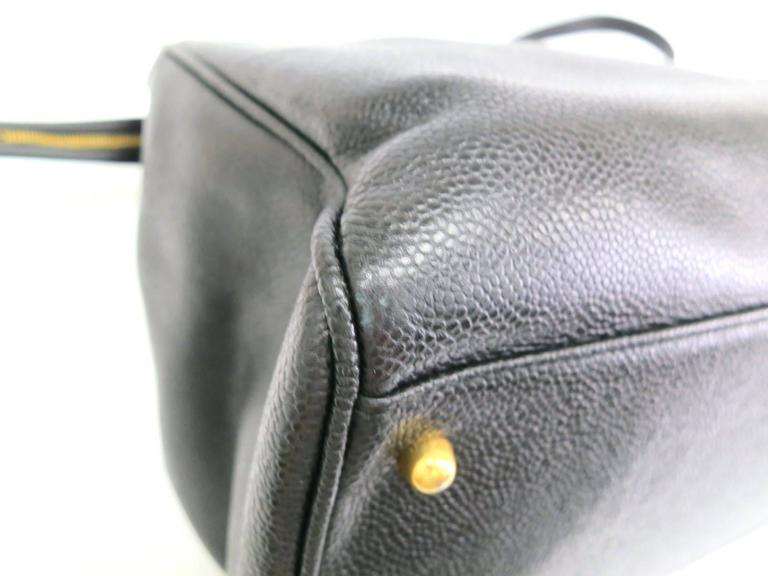 Chanel Black Vintage Caviar Supermodel Overnight Weekender Tote Shoulder Bag 6