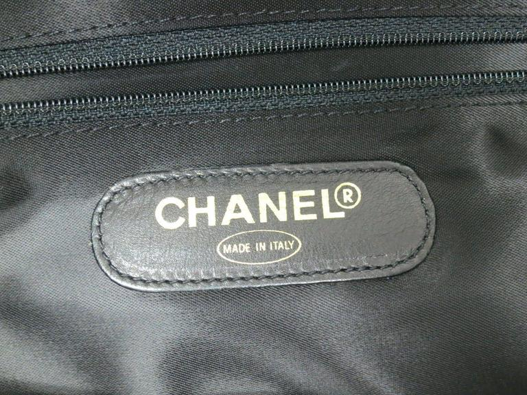 Chanel Black Vintage Caviar Supermodel Overnight Weekender Tote Shoulder Bag 8