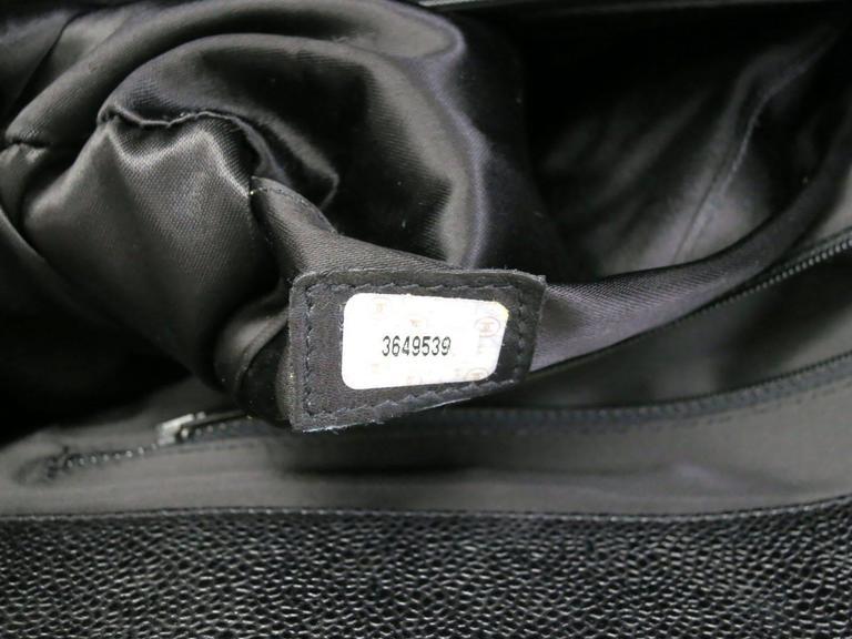 Chanel Black Vintage Caviar Supermodel Overnight Weekender Tote Shoulder Bag 9