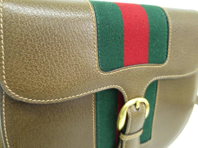 d1632254182 CURATOR S NOTES Where the crossbody bag trend began! Chic vintage Gucci  leather cross body featuring
