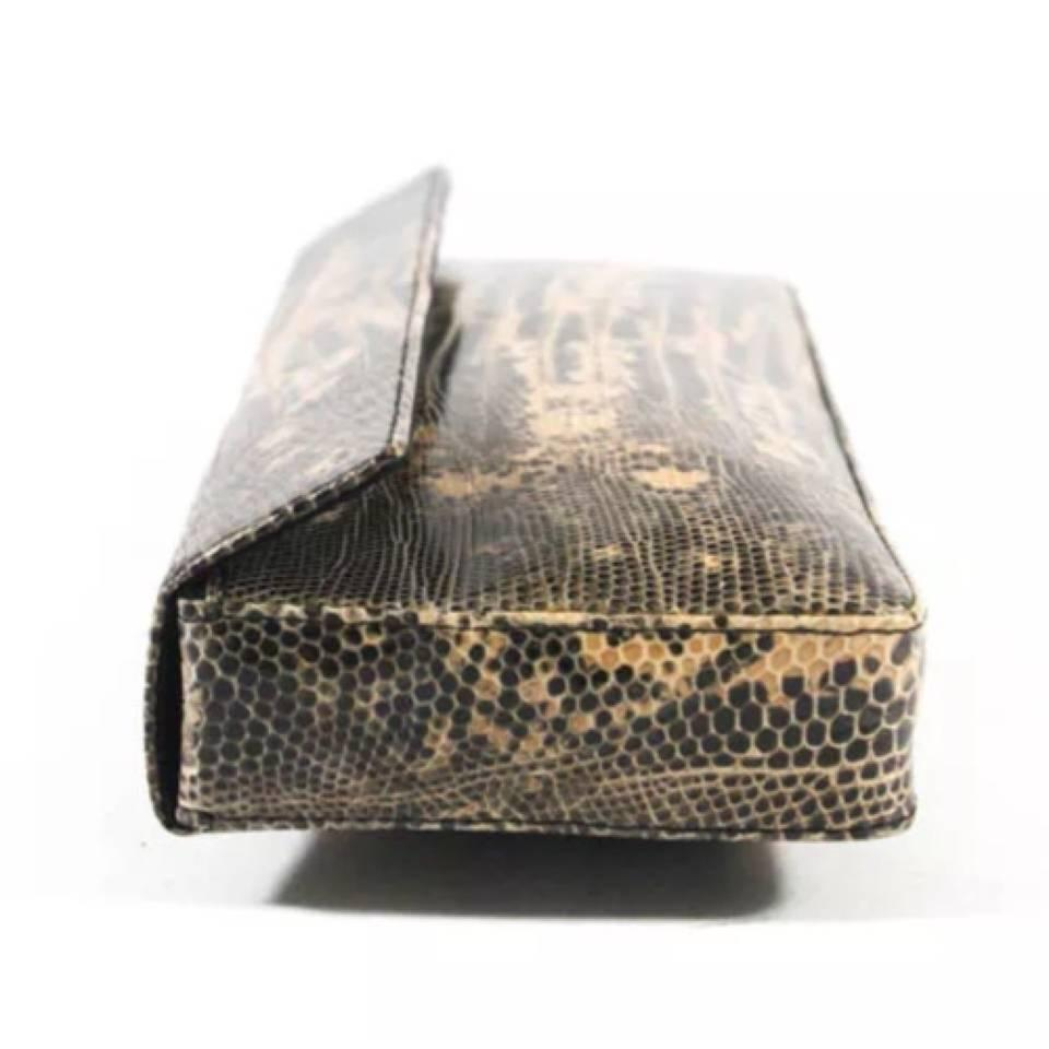 Prada Python Snakeskin Leather Clutch Bag at 1stdibs
