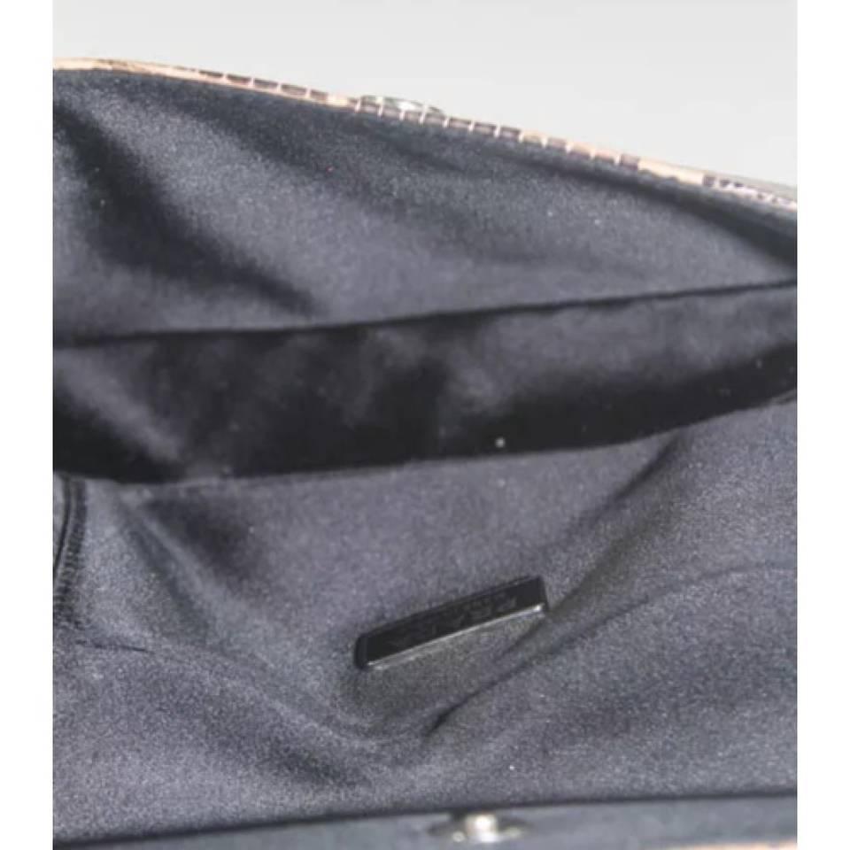 prada grey leather clutch bag