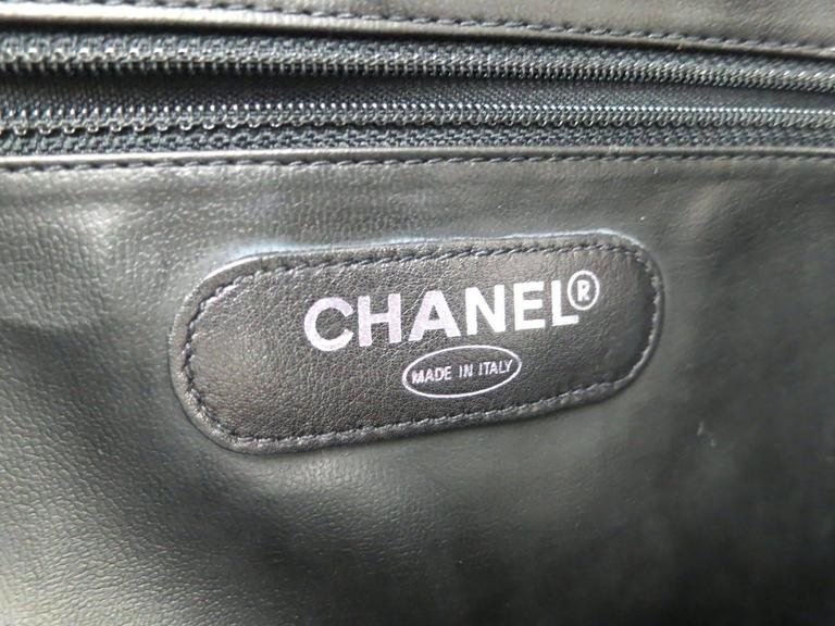 Chanel Black Quilted Calfskin Supermodel Overnight Weekender Tote Shoulder Bag 5