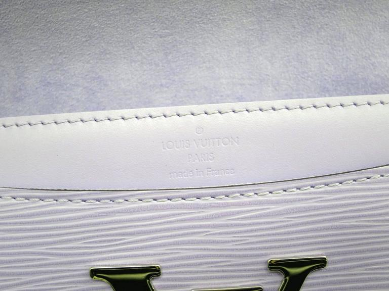 Louis Vuitton Louise Epi Leather Lavender Logo Clutch Crossbody Shoulder Bag 5