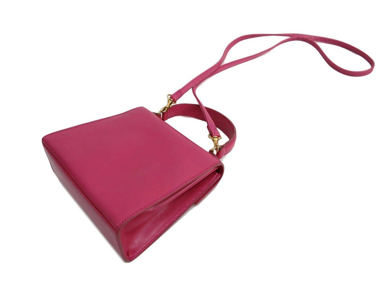celine replica shoes - Celine Pink Leather Box Kelly Top Handle Satchel Shoulder Bag at ...