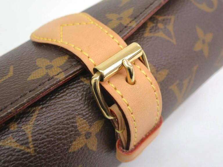 2b6dc3e850ea Louis Vuitton Monogram Canvas Traveling Jewelry Watch Storage Case In  Excellent Condition For Sale In Chicago