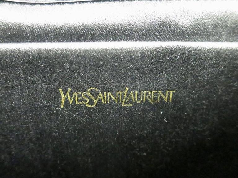 Women s Yves Saint Laurent (YSL) Red Patent Leather Logo Envelope Flap  Clutch Bag For f003dce590