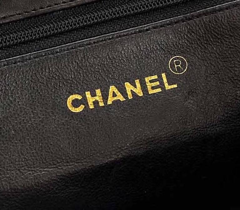 Chanel Black Ivory Colorblock Leather Gold Flap Envelope Clutch Shoulder Bag 6