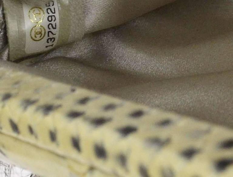 Chanel Rare Nude Fantasy Fur Crystal CC Evening Chain Shoulder Clutch Bag 6