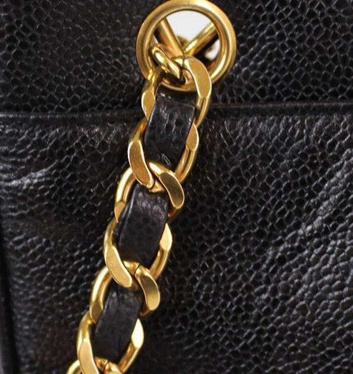 bc72cce2055f CURATOR'S NOTES Caviar leather Gold hardware Zipper closure Made in Italy  Measures 10.5