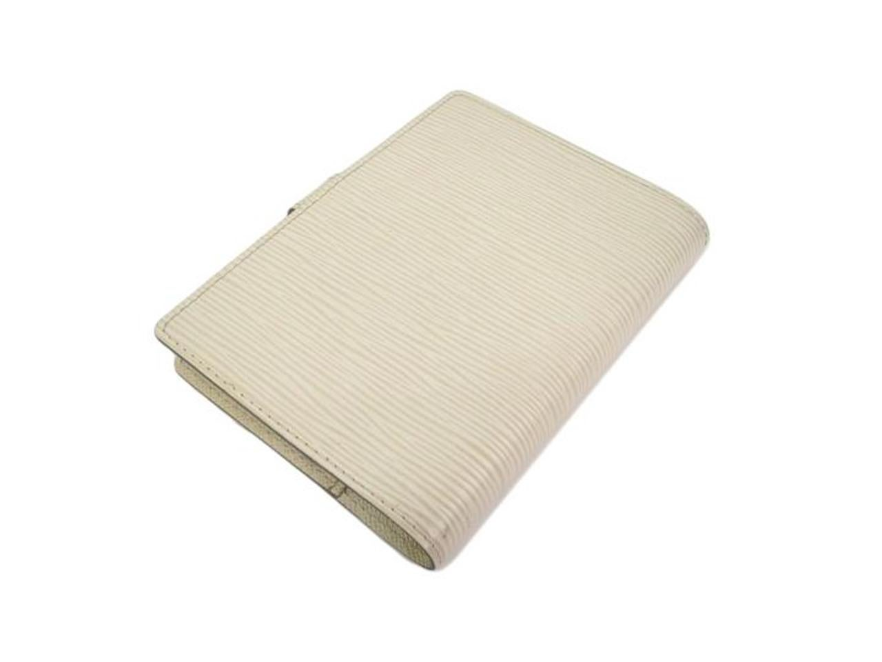 Louis Vuitton Ivory Mens Womens Leather Travel Agenda Planner Notebook Cover AaTd5FEYg