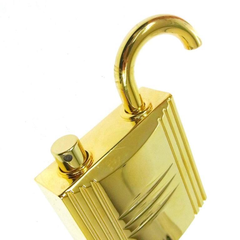 Hermes Cadena Lock Men's Women's Travel Storage Scent Atomizer In Box  Metal Gold tone Measures 2