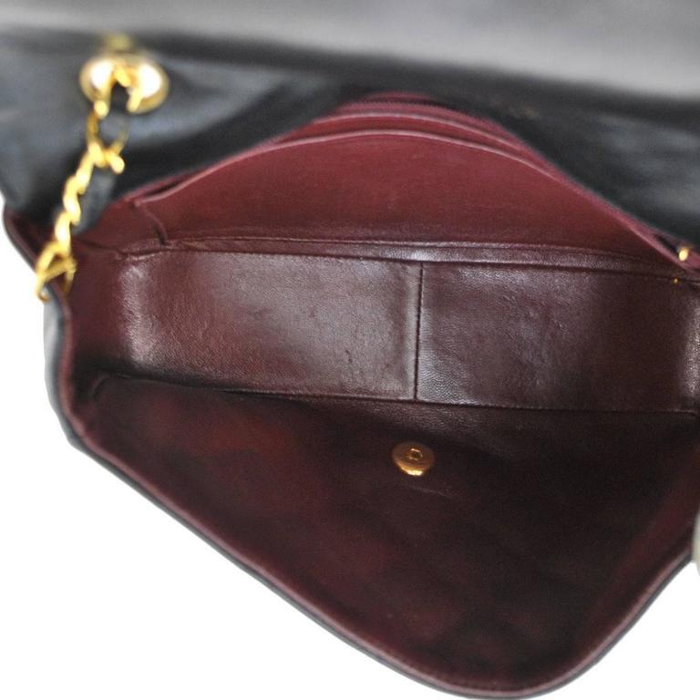 Chanel Black Lambskin Evening Flap Shoulder Bag 8