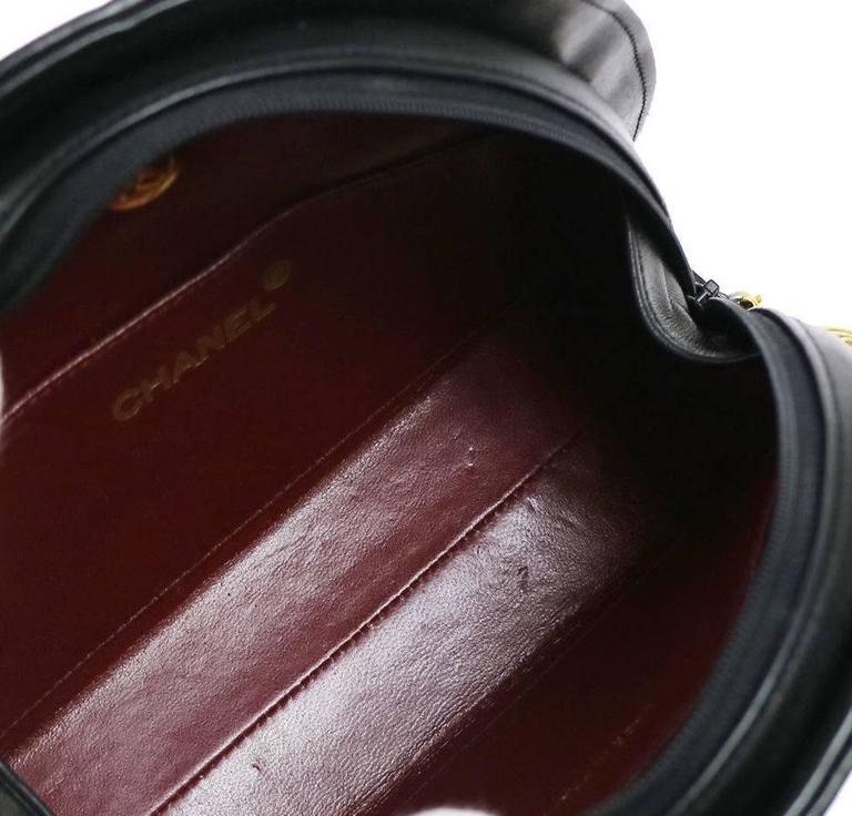 Chanel Black Lambskin Half Moon Small Top Handle Shoulder Flap Bag in Box 4