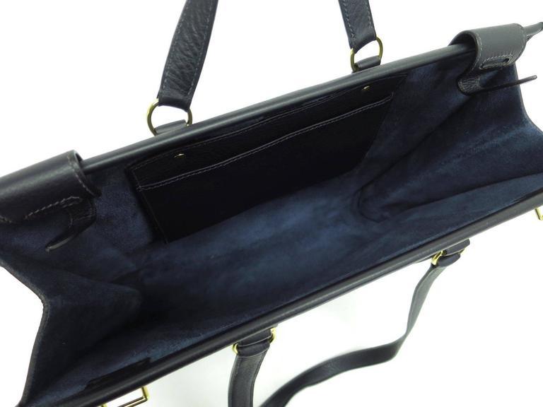 Women's Hermes Leather Oversize Carryall Briefcase Travel Shopper Shoulder Tote Bag For Sale