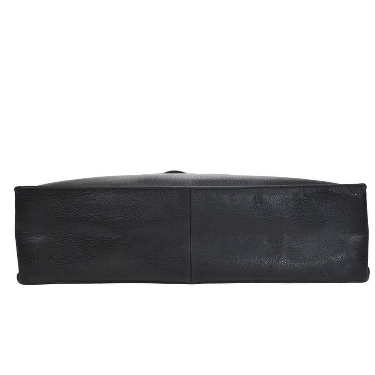Chanel Vintage Caviar Carryall Shopper Weekender Travel Shoulder Tote Bag 5