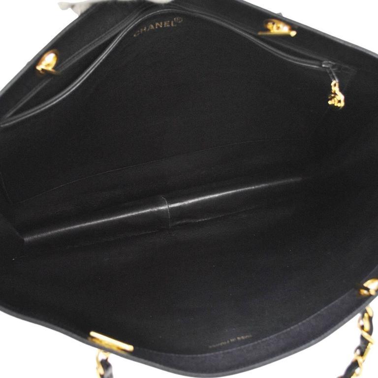 Chanel Vintage Caviar Carryall Shopper Weekender Travel Shoulder Tote Bag 7