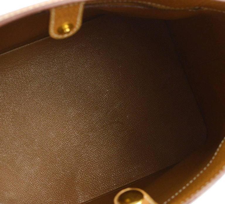 Hermes Seau Hermès Or Cuir Cognac Millésimé Shopper Sac À Bandoulière Fourre-tout De Nouveaux Styles En Ligne Pas Cher uHzEmXI