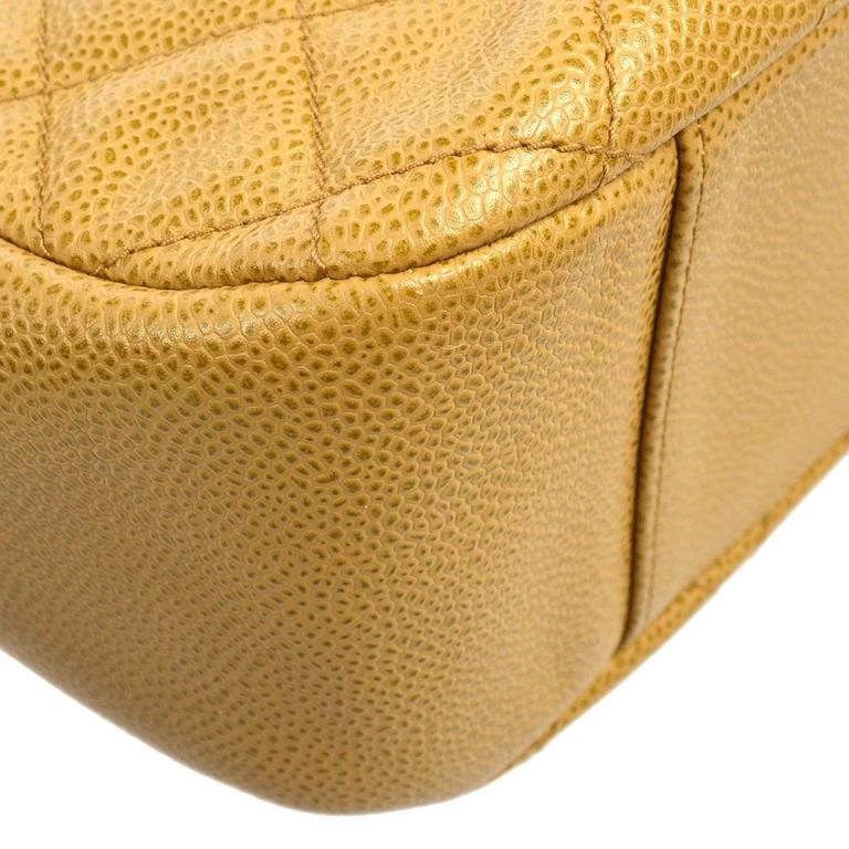 Chanel Nude Caviar Leather Gold Evening Top Handle Satchel Chain Shoulder Bag 6