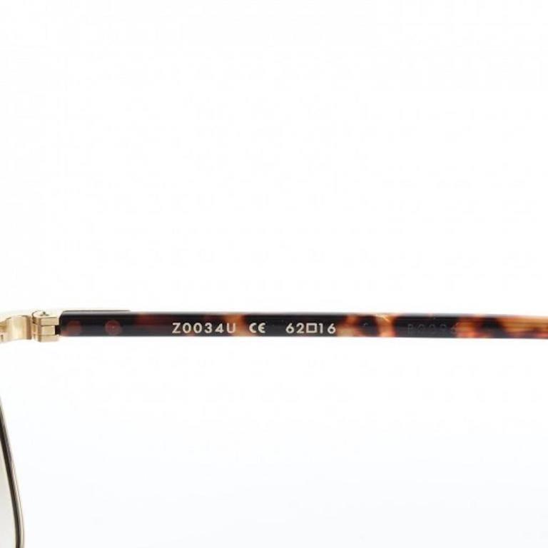 b655b79371f Louis Vuitton Gold Tortoise Men s Women s Unisex Aviator Sunglasses W Case    Box For Sale