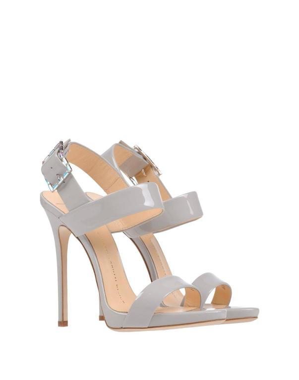 Giuseppe Zanotti New Gray Patent Leather Sandals Heels in Box 2