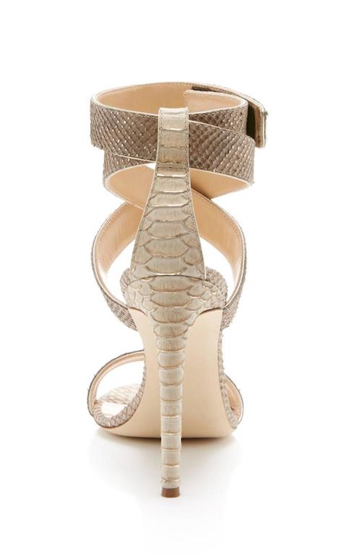 ab015b846c0 Giuseppe Zanotti New Nude Snakeskin Print Ankle Strap Sandals Heels in Box