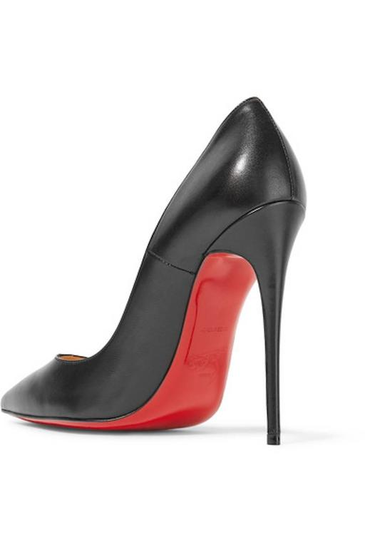Christian Louboutin New Black Leather SO Kate High Heels Pumps in Box 5