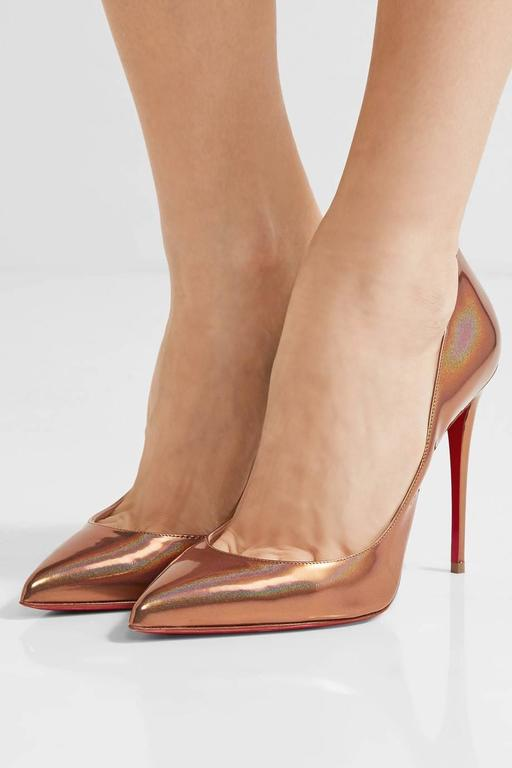 Christian Louboutin New Copper Leather Pigalle Follie High Heels Pumps in Box 2
