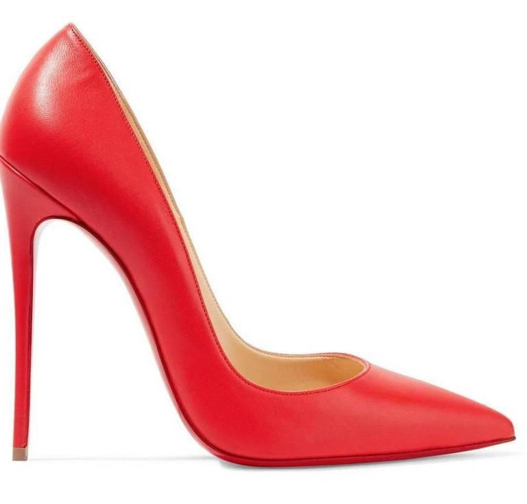 Christian Louboutin New Lipstick Red Leather So Kate High Heels Pumps in Box  3