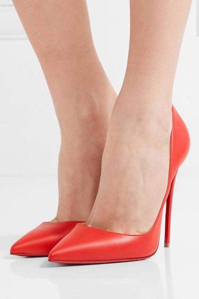 Christian Louboutin New Lipstick Red Leather So Kate High Heels Pumps in Box  2