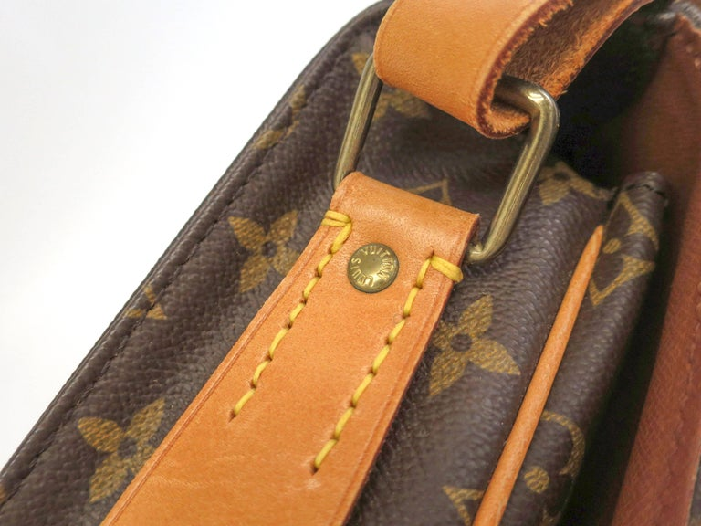 Louis Vuitton Monogram Crossbody Messenger Style Belt Flap