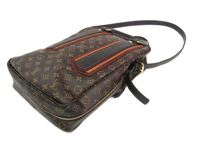 Louis Vuitton Limited Edition Mono Men's Top Handle Travel Tote Shoulder Bag For Sale 2