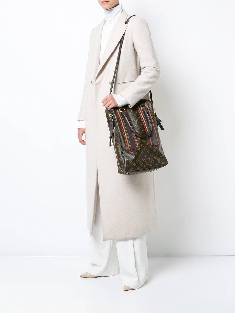 Louis Vuitton Limited Edition Mono Mens Top Handle Travel Tote Shoulder Bag PJ58vigxe